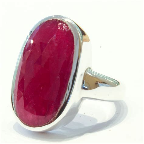 Handmade Rings Melbourne - ruby in handmade silver ring ixtlan melbourne