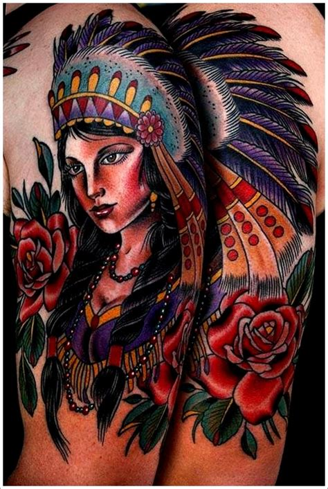 native american woman tattoo 40 american designs that make you proud