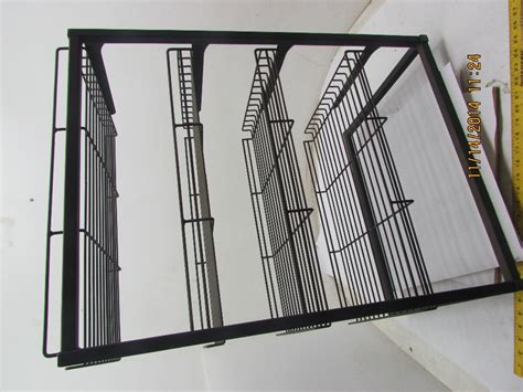Wire Frame Shelving 4 Tier Adjustable Shelf Wire Frame Tray Rack Display Stand