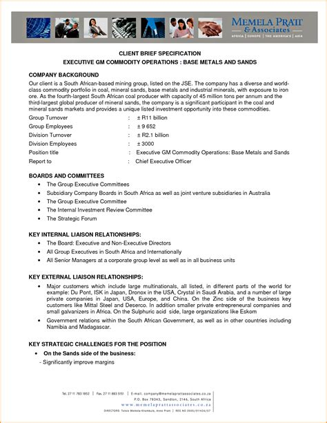 executive brief template 26170087 png loan application form