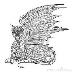 dragon de dessin pour livre de coloriage illustration de