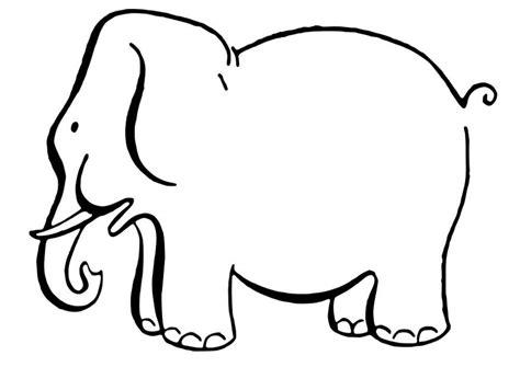 imagenes de animales grandes para colorear dibujo para colorear elefante img 27845