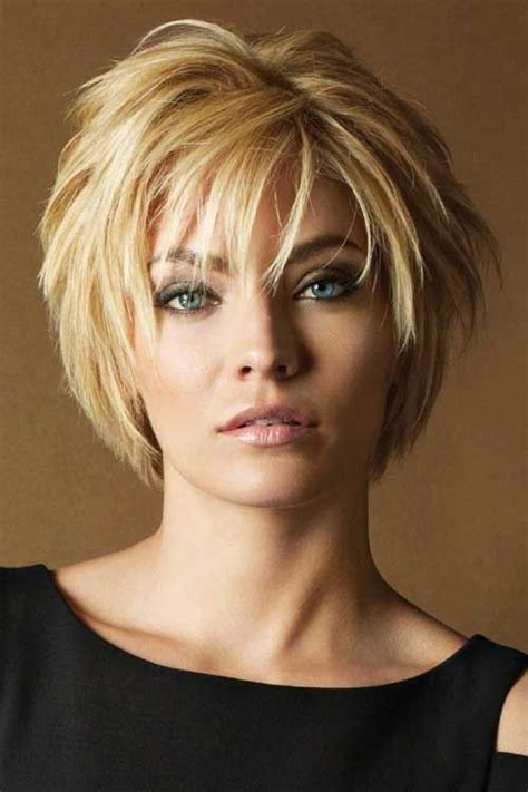 hair styles for full face 47 year old woman 20 fashionable layered short hairstyle ideas with