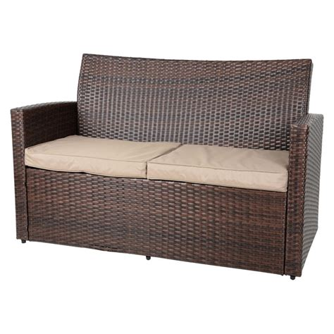 wicker sofa table brown tuscany rattan wicker sofa garden set with coffee table