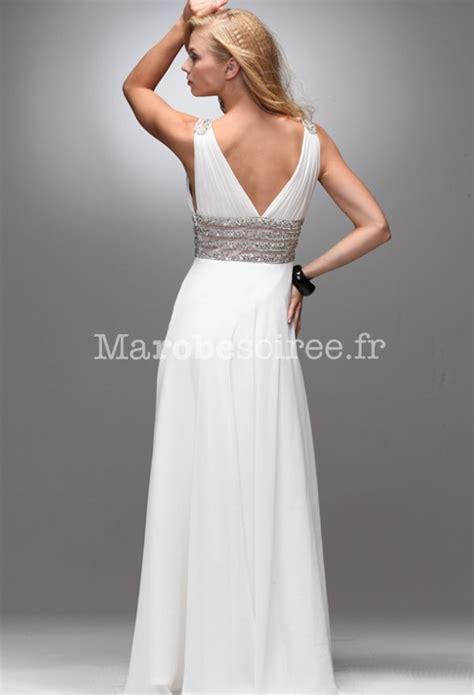 robe de soirée faith mousseline blanche évoquant l?antiquité grecque