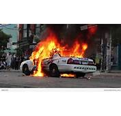 Police Car On Fire With Electrical Explosion  HD Stock