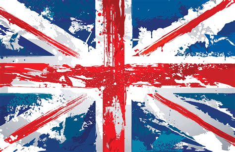 Painted union jack wallpaper wall mural muralswallpaper co uk