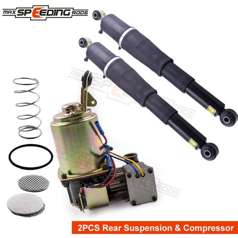 new air suspension compressor rear shock kit for chevy chevrolet gmc cadillac ebay