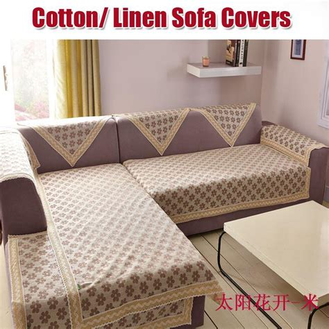 cotton linen fabric for sofa cover sofa towel with lace