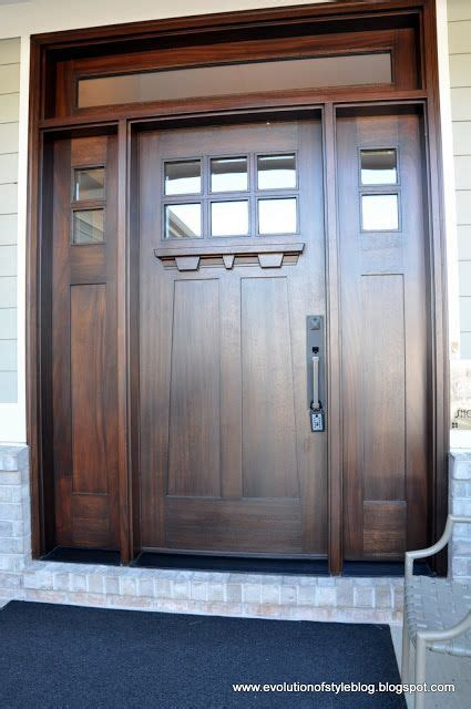 Front Doors Styles Beautiful Craftsman Style Front Door For The Home