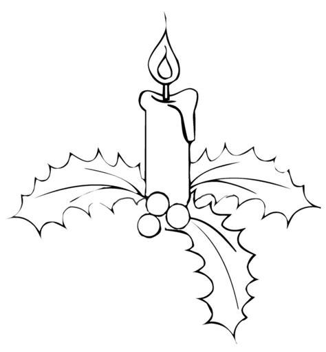 candele natalizie da colorare natale candele di natale su vischio