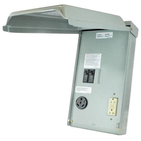 ge 100 2 space 2 circuit 240 volt unmetered rv outlet