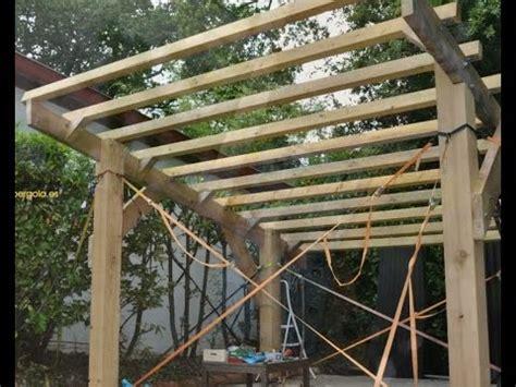 cobertizo rollizos como hacer una p 233 rgola de madera pasos de montaje youtube