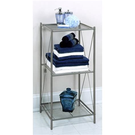 Zenith Bathstyles Spacesaver Bathroom Storage The Toilet Shelf Pearl Nickel Ebay Zenith Bathstyles Free Standing 3 Shelf Bathroom Cabinet Pearl Nickel Finish Shop Your Way