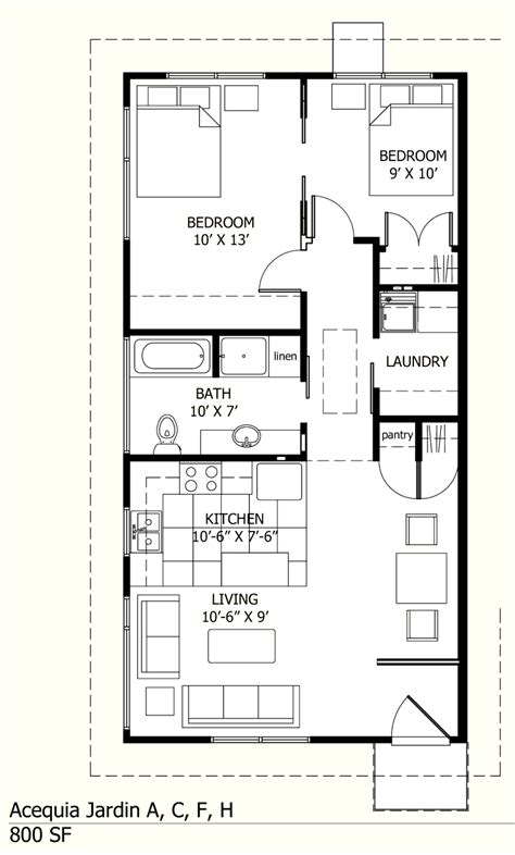 awesome House Plans Under 900 Square Feet #4: 800-sf-unit-floor-plan.jpg?w=800