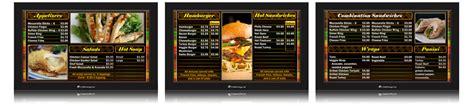 Corndigital Digital Menu Board Templates Digital Menu Board Templates