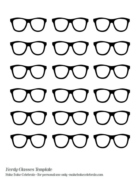printable glasses templates nerd glasses template even made a nerdy glasses template