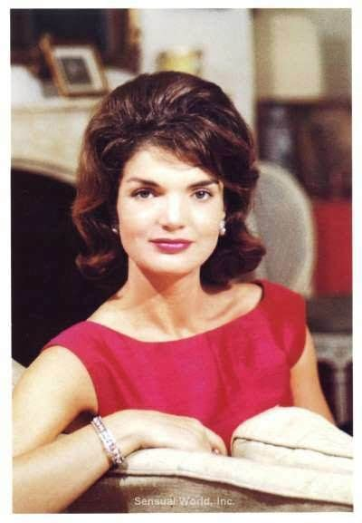 jacqueline kennedy jackie kennedy vintage stationary card color photo