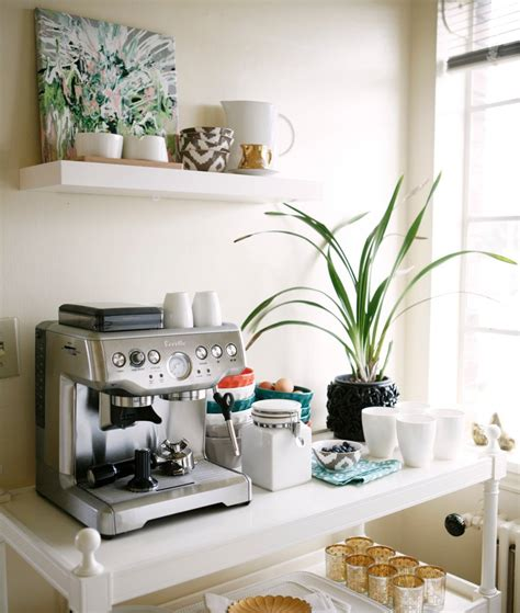 Cafe Kitchen Decorating Ideas by Coffee And Tea Cart Styling Popsugar Home
