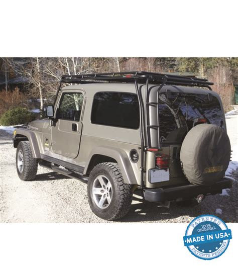 Jeep Roof Rack With Ladder by Gobi Jeep Wrangler Tj Rear Ladder Driver Side
