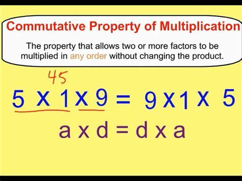 commutative properties of addition multiplication youtube