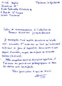 Lettre De Recommandation Valeur Lettre De Recommandation Valeur Document