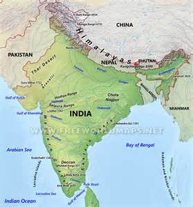 India On The Map by India Physical Map