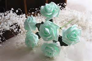 mint colored flowers mint wedding flowers artificial roses for bridal bouquet