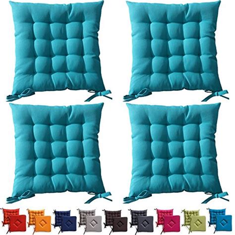 cuscini per sedie da esterno set di 4 cuscini da sedia trapuntati cuscini da esterno