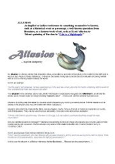 Allusion Worksheets by Worksheet Allusions
