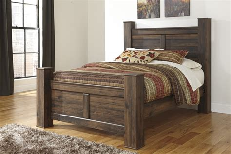 ashley poster bed quinden king poster bed b246 61 66 68 99 complete beds
