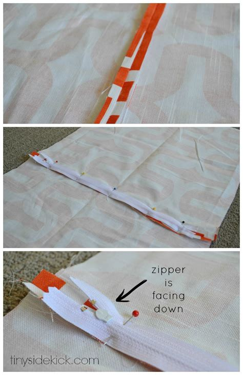 a zippered pillow staged for upsell