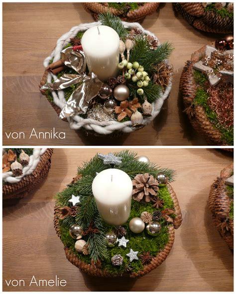 Weihnachtsgestecke Selber Machen Ideen by Weihnachtsgesteck Basteln Adventsgesteck Basteln