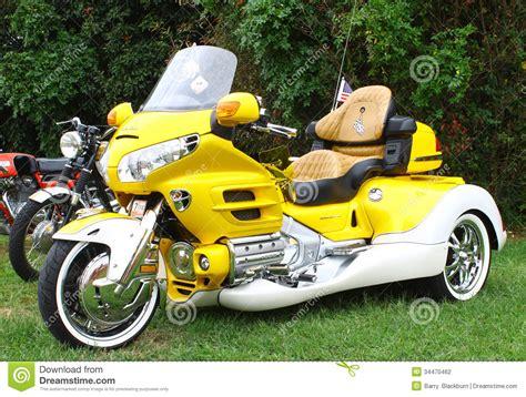 Dreirad Motorrad Honda by Dreirad Hondas Goldwing Redaktionelles Stockfotografie