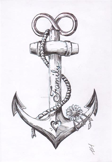 anchor and cross tattoo anchor design by joshthompsonart deviantart on