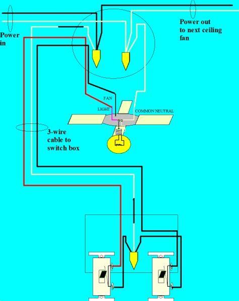 wire  ceiling fan  separate control fo  fan