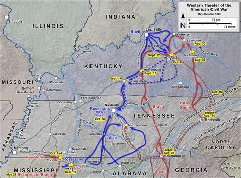 kentucky map civil war battle of perryville civil war kentucky history map