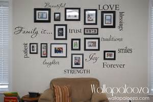 Word Stickers For Walls Family Wall Decal Set Of 12 Family Words Family Room Wall