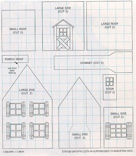 house patterns free gingerbread house plans gingerbread house