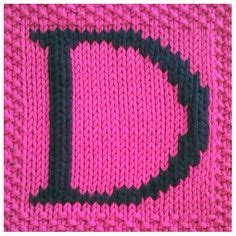 Square Instan Motif 01 pdf knitting pattern capital letter h afghan by