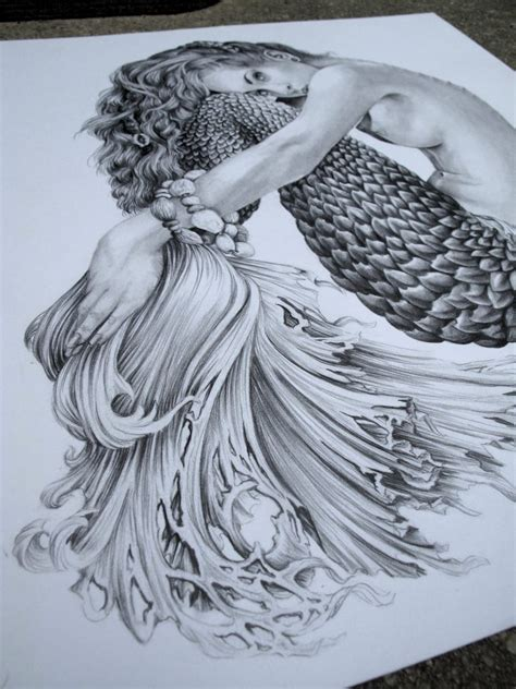 Gorgeous Drawings by Beautiful Mermaid Pencil Drawings Drawing Ideas