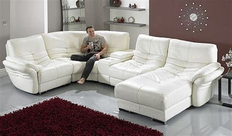 Contemporary White Leather Sofa Mesmerizing Living Room White Leather Living Room Furniture