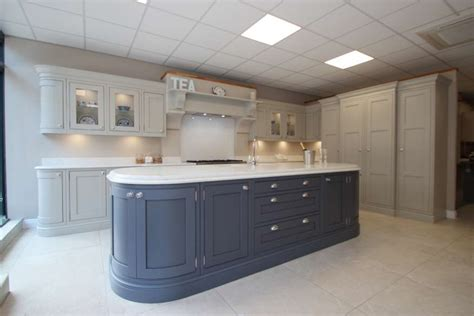large burbidge langton painted ex display kitchen