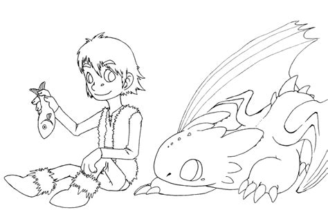 hic n toothless color me by dogmaniac on deviantart