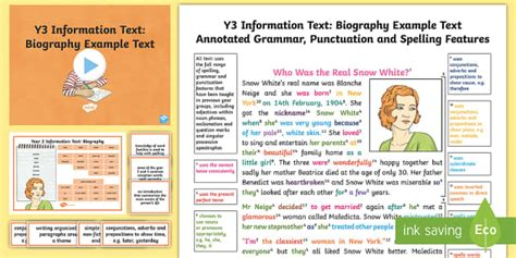biography informational text y3 information texts biography model exle text exle