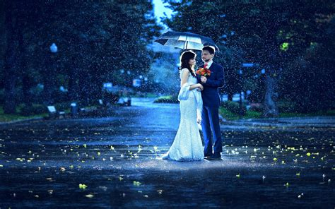 wallpaper of couple in rain sweet couple giving flower in a rainy morning romantic