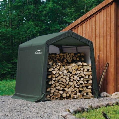 shelter logic peak style storage shed  garden street