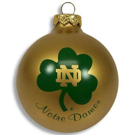 notre dame fighting irish christmas ornament cool notre