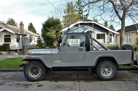 jeep scrambler 1982 seattle s parked cars 1982 jeep cj 8 scrambler