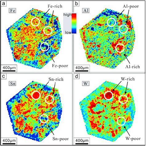 la icp ms element mapping results   fe  al